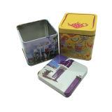 venda por atacado da lata de estanho do quadrado do tamanho de 70X70X70mm para o empacotamento do café do chá