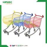 Nouveau style Supermarché Electrique Metal Hand Push Trolley Shopping Carts