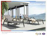 Cadeiras de praia de vime exterior/ Espreguiçadeira/ Espreguiçadeira/sofá-cama (TGLU-27)