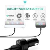 Aukey 차 충전기 이중 USB Qualcomm 빠른 책임 3.0 Xiaomi LG Meizu Samsung HTC LG를 위한 빠른 차 충전기 지원 5V/9V/12V