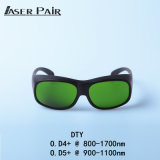 Os óculos de proteção do laser de vidros do laser Safet de DTY protegem o comprimento de onda: 800 - 1700nm, 980nm, 1064nm, 1320nm, 1470nm para diodos, ND: YAG