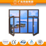 Thermischer Bruch-hölzernes Aluminiumflügelfenster und Verlegenheits-Fenster mit zwei Fenster-Panels