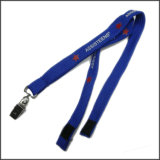 Polyester étroit / tubulaire Custom Logo Neck Lanyards for Promotion
