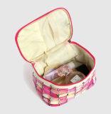 Femmes cosmétiques réglées de sac de logo de la Chine de vérification de sac coloré fait sur commande en gros de renivellement