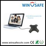 Ajuste Automático de Rastreamento de Voz Humano Suporte de Microfone Onlice Chat USB Conference Microfone