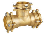 熱い販売のPEの管(75-110mm)のための真鍮の圧縮の付属品
