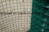 Het groene Plastiek bedekte Gelast Netwerk van de Draad 30m met een laag