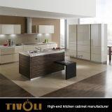 食料貯蔵室および島デザインTivo-0233hの工学クルミのベニヤの食器棚
