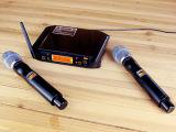 Gymsense 음성 예술가 UHF 무선 클립 Karaoke 마이크 시스템