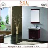 Vaidade moderna do gabinete de banheiro da madeira contínua de N&L
