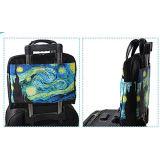 女の子の女性のためのMenパソコンのハンドバッグを通した青い星明かりの空のラップトップ袋箱の荷物のパス