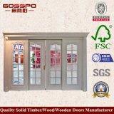 Portello scorrevole di vetro Tempered di legno solido (GSP3-032)