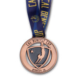 Marathon de moulage métal or 3D de Sports Award médaille avec ruban pour cadeau souvenir