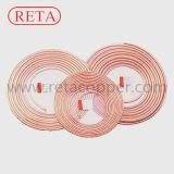 Tubo de cobre del O.D del estándar 6.00 de ASTM B280 '' para la refrigeración