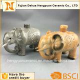 Bottiglia di ceramica del vaso dell'alcool di figura dell'elefante per la decorazione domestica