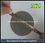 Acero inoxidable disco de filtro de una sola capa