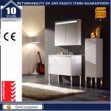 Heißer verkaufenfußboden - eingehangener weißer MDF-Badezimmer-Möbel-Schrank