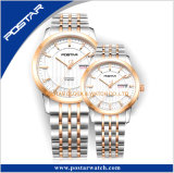 OEM & ODM het Automatische Horloge van het Paar van het Roestvrij staal van het Glas van het Kristal 316L