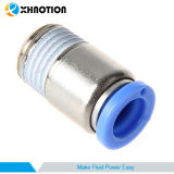 Empurrar de Xhnotion o toque rápido para conetar o encaixe reto masculino redondo pneumático da câmara de ar