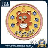 쳐진 청동색 자유로운 삽화 금속 동전을 정지하십시오