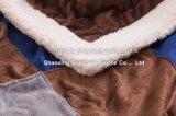 ShuのベルベティーンのSherpaの羊毛毛布/ミンクのモザイクを持つミンク