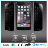 Анти- протектор экрана Tempered стекла уединения шпионки на iPhone 6