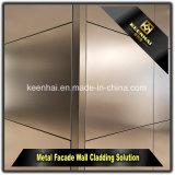 Pared metálica de aluminio recubierto de polvo de los paneles de revestimiento de fachada