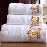 Luxury 100% coton broderie personnalisée Serviette de bain pour l'hôtel