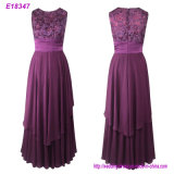 Neue Form-Sleeveless Abend-Kleid-elegante dünne Dame formales Kleid