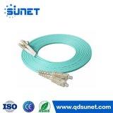 FC/PC al cavo di ponticello di fibra ottica su un lato di LC/PC Om3