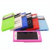 2016 tampa colorida do telefone de pilha da borracha de silicone 3D da forma