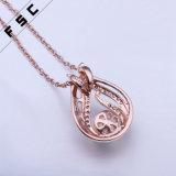 ローズの金によってめっきされるファッション小物の真珠のペンダントのネックレス