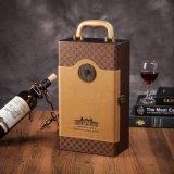 Boîte à vins en bois de luxe en cuir de couleur multiple