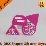 USB Shaped Pendrive de Waterdrop do logotipo feito sob encomenda do presente 2D/3D do PVC (YT-6660)