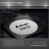 Amlogic S912 Tvbox androide con 4k&H. 265 el rectángulo dual del soporte 3D4k TV de WiFi de la venda de la ROM del RAM 16GB del decodificador 2GB