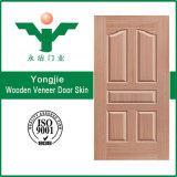 Piel de madera natural de la puerta de la chapa HDF