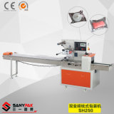 Envoltura horizontal del flujo del convertidor dual de China para el producto regular de la forma