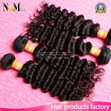 Соткать человеческих волос глубоких волос волны перуанских Unprocessed (QB-PVRH-DW)