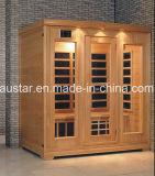 Sauna infravermelha de madeira maciça com tamanho personalizado (AT-0926)