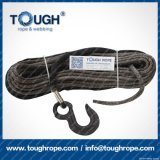 Fibra 100% resistente de Uhwmpe da corda da corda sintética cinzenta do guincho da cor 10mmx30m4X4