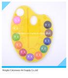 2,5cm * Bolo de cor de água de alta qualidade de 12 cores para crianças e estudantes