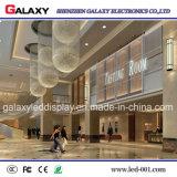 Affichage LED en verre transparent à l'intérieur plein écran LED de couleur Mesh signer