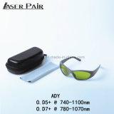 ND degli occhiali di protezione 755&808&1064nm degli occhiali di protezione del laser: Sicurezza di laser medica di vetro degli occhiali di protezione del laser dell'occhio di YAG con stile di sport