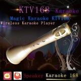 Mini microfone portátil de karaokê, altifalante de karaoke KTV-168