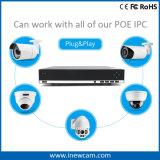 supervisión en tiempo real alejada Poe NVR de 4CH 4MP P2p