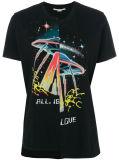 """T-shirt do algodão da forma das mulheres feitas sob encomenda com """"amor ''"""
