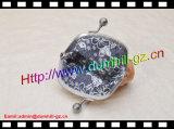 Bourse en cuir de pièce de monnaie de Kisslock de bâti en métal d'OEM pour Madame