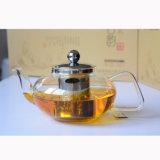 Vetro di POT del tè con il supporto del coperchio con la teiera della pressa del tè del filtro con la caldaia di vetro della maniglia