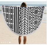 Турецкое круглое полотенце пляжа
