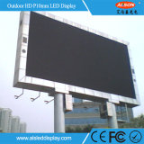Cartelera al aire libre de la muestra de la alta instalación fija impermeable LED de IP65 P10